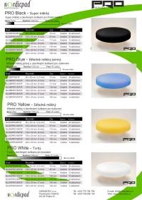 Katalog produktů NORDIC PAD PRO