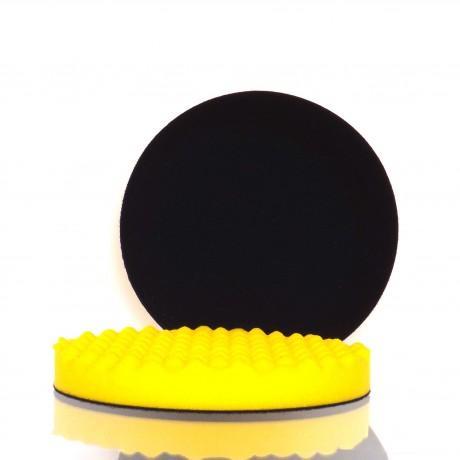 Leštící a brusný kotouč žlutý vlnitý 180 x 25 mm