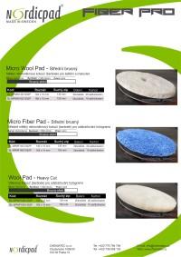 Katalog produktů NORDIC PAD FIBER PRO
